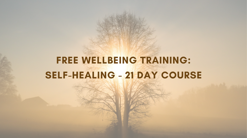 Free Self-Healing 21 Day Wellbeing Course Advert